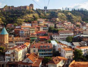 Vue de Tbilissi et de la forteresse de Narikala