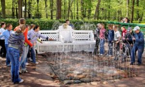 Benches Trick Fountain, Peterhof