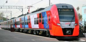 High speed train to St. Petersburg