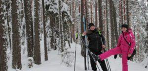 Skiing in Karelia
