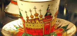 Russian porcelain tea cup