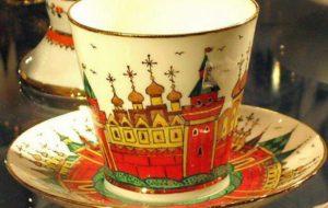 Tasse à thé en porcelaine russe