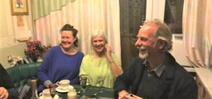 Tea party with a Russian family