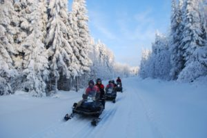 Snow mobile ride